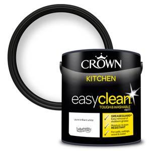 Crown Easyclean Kitchen Paint Brilliant White 2.5L
