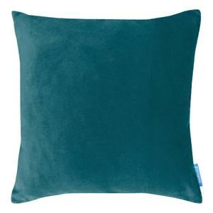 House Beautiful Velvet Linen Cushion - 45x45cm - Dark Teal
