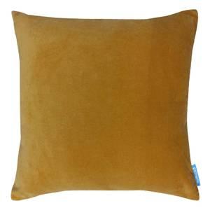 House Beautiful Velvet Linen Cushion - 45x45cm - Ochre