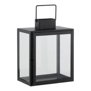 House Beautiful Metal Medium Lantern - Black