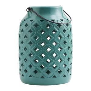 Tall Ceramic Lantern Green