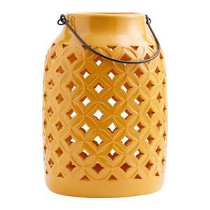 Tall Ceramic Lantern Yellow
