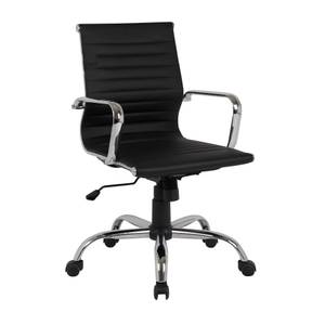 Dave Office Chair - Black Faux Leather