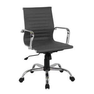 Dave Office Chair - Grey Faux Leather