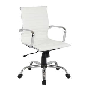 Dave Office Chair - White Faux Leather