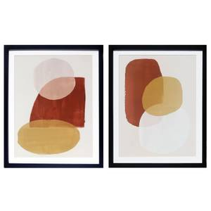 House Beautiful Set of 2 Framed Abstract Prints - 40x50cm