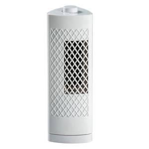 13 Inch Oscillating Mini Tower Fan - White