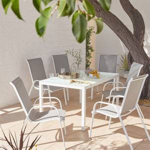 MALINDI 6 SEATER DINING SET GREY