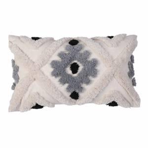 Tufted Geometric Cushion Grey 30x50cm