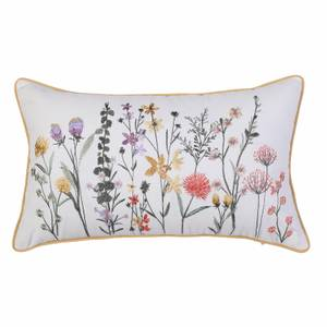 Embroidered Floral Cushion - 30x50cm