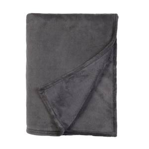 Fleece Throw Charcoal 120x150cm