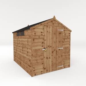 Mercia 6x8ft Security Shiplap Apex Shed (Installed)
