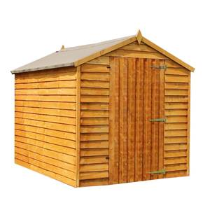 Mercia 8x6 Overlap Apex Wooden Shed with Installation
