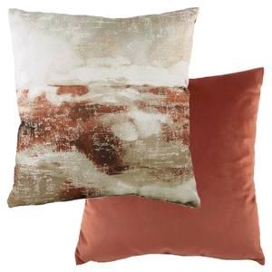 Watercolour Landscape Cushion - Terracotta