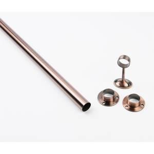 Hanging Rail Kit - 25mm 6ft Antique Copper Rail Sockets Pack