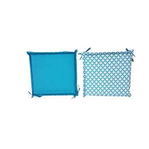 Homebase Outdoor Seat Pad Cushions in Geometric Blue - (Pack of 2)