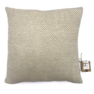 Country Living Wool Herringbone Cushion - 50x50cm - Ash Rose