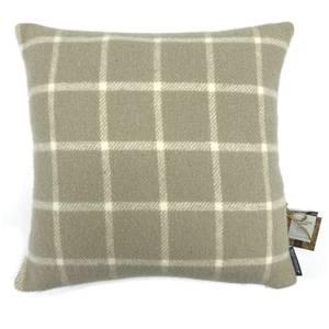 Country Living Wool Check Cushion - 50x50cm - Latte