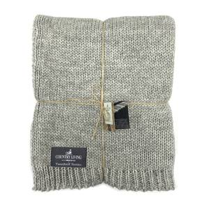 Country Living Wool Mix Knitted Throw - 130x180cm - Grey