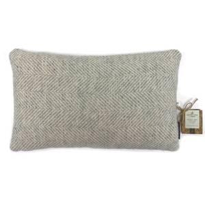 Country Living Wool Herringbone Cushion - 30x50cm - Grey