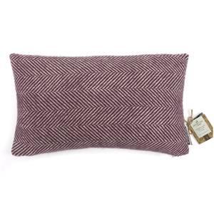 Country Living Wool Herringbone Cushion - 30x50cm - Grape
