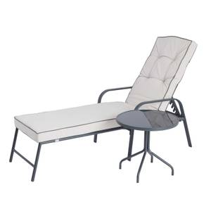 Rowly Sunlounger & Side Table