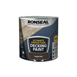 Ronseal Ultimate Protection Decking Paint English Oak 2.5L