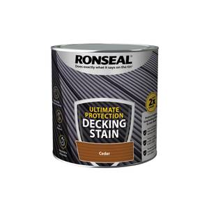 Ronseal Ultimate Protection Decking Stain Cedar 2.5L