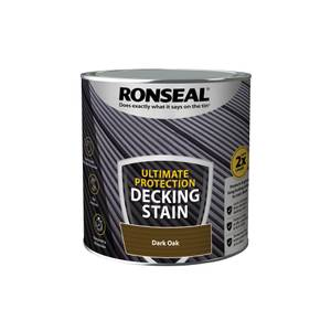 Ronseal Ultimate Protection Decking Stain Dark Oak 2.5L