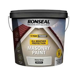 Ronseal All Weather Masonry Paint Stone Grey 10L