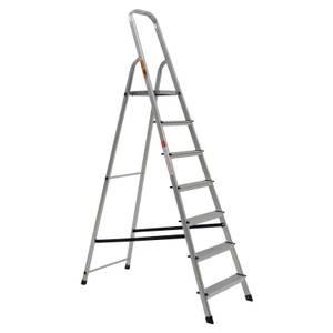 Rhino Lightweight Aluminium Platform Step Ladder - 7 Tread