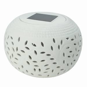 Solar Ceramic Filigree Table Light