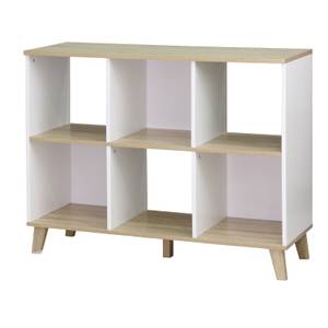 Clever Cube with Wooden Legs 2x3 - White & Oak