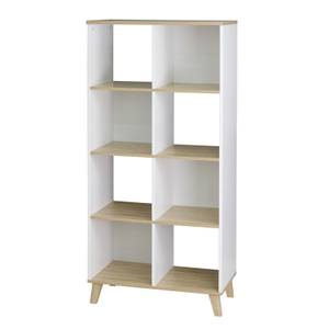 Clever Cube with Wooden Legs 2x4 - White & Oak