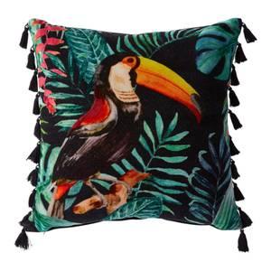 Velvet Tasseled Toucan Cushion