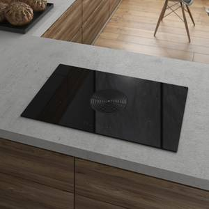Inox Raptor BE 87cm Electric Venting Induction Hob - Ducted - Black