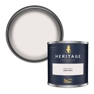 Dulux Heritage Colour Tester - Linen White - 125ml