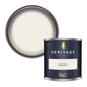 Dulux Heritage Colour Tester - Piano White - 125ml