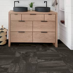 FloorPops Peel and Stick Floor Tiles - Raven