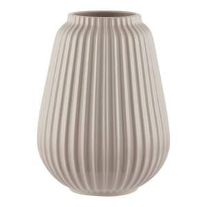 House Beautiful Line Textured Ceramic Vase - Mist