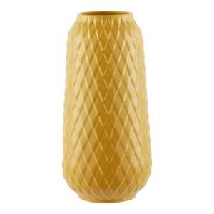 House Beautiful Diamond Ceramic Vase - Ochre