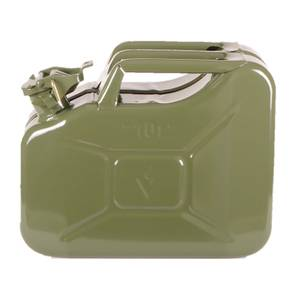 10L Steel Fuel Can - Green