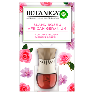 Botanica by Air Wick Island Rose and African Geranium Plug-In Diffuser Kit 19ml