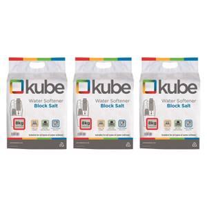 3 Bags of 8kg Kube Block Salt