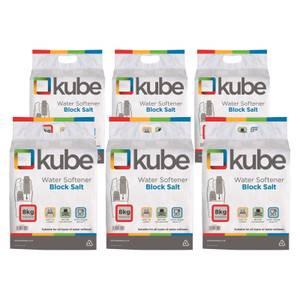 6 Bags of 8kg Kube Block Salt
