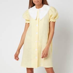 Sleeper Women's Marie Linen Dress - Lemon
