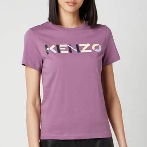 KENZO Women's KENZO Logo Multico Classic Tshirt - Blackcurrant