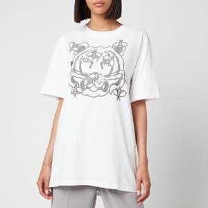 KENZO Women's Bee A Tiger Oversize T-Shirt - Pale Grey