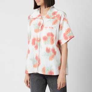 KENZO Women's Printed Hawaiian Shirt - Poppy
