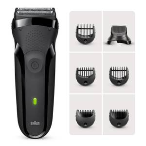 Braun Series 3 Shaver with Trimmer Head and 5 Combs